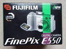 FUJIFILM FINEPIX DIGITAL CAMERA E550 - SUPER CCD - USB CABLE, CD-ROM (FOR PARTS)