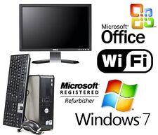 """DELL CORE 2 DUO DESKTOP PC 8GB 1TB WINDOWS 7 WiFi COMPLETE 19"""" SCREEN +MS OFFICE"""