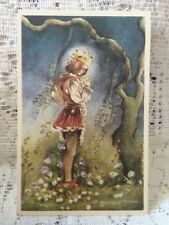Vintage Postcard Prince in a Forest Made in Sweden