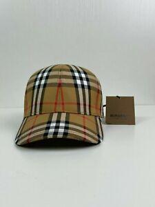 Burberry London Baseball Cap Hat Beige Nova Check One Size
