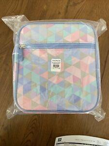 Pottery Barn PB Teen Gear Up classic Kids lunch box Dazzle Geometric Multi Pink