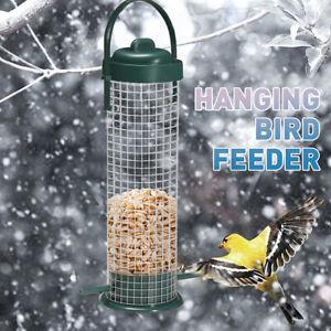 Garden Outdoor Wild Bird Feeder Peanut Nut Feeder Hanger Standing green