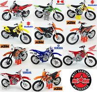Motocross Mx 1:18 Modellino/Giocattolo di Plastica Modello Motocicletta Bikes Da