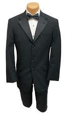 Men's Black Tommy Hilfiger Tuxedo with Pants Wedding Groom Mason Prom 48R 40W