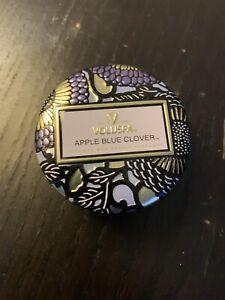 NEW Voluspa Apple Blue Clover Tiny Tin Candle