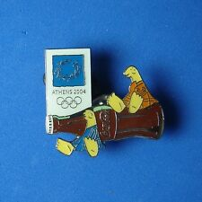2004 Athens Olympic Pin Coca Cola Bottle and Olympics Mascots