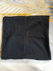 2 IKEA Gurli Black Cushion Covers 50x50cm