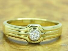 18kt 750 Yellow Gold Ring with 0,20ct Brilliant Decorations/ Diamond/ 4,6g/ Rg