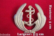 Insigne de coiffe pour la Marine ( Fabrication Coinderoux) ( Insigne doré )