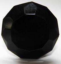 PEQUEÑO NEGRO Cristal Tallado Cajón & armario tiradores ( POMOS ) x 20