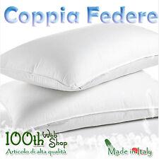 COPPIA FEDERE 52X82 100% COTONE BIANCHE BIANCO FEDERA GUANCIALE CPFDBNC