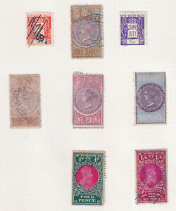 NSW, page of duty stamps, to £1