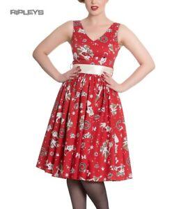Hell Bunny Christmas Noel 50s Pin Up Rockabilly Dress BLITZEN Red XS 8