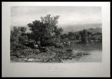 Housatonic River, USA . Originaler Stahlstich von 1874