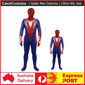 Spiderman Super Hero Halloween Book Week Adult Kids Boys Fancy Dress Costume