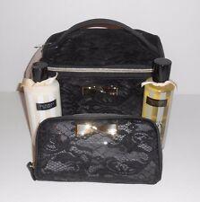 Victoria's Secret Lacey Train Case Duo & Cosmetic Bag + Body Wash & Body Oil NEW