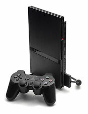 SONY Slimline PS2 Console Black PAL--PLAYS PAL PS2 GAME