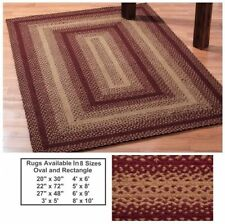 "IHF Home Decor Rectangle 20"" x 30"" Braided Area Rug Jute Vintage Star Design"