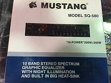 NOS Vintage 1-band Graphic Equalizer Mustang sq-580 HI-POWER 200W+200W