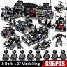 City Police SWAT Truck Building Blocks 8Pcs/lot 695Pcs Vehicle For Lego Technic