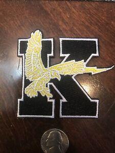 "KSU Kent State University Golden Flashes Vintage Embroidered Iron On Patch  3"""