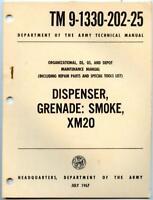 Vietnam War 1967 US Army TM Technical Manual Book XM20 Smoke Grenade Dispenser