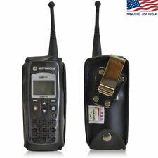 Motorola DTR 650 Radio Leather Phone Case Bottom Snap Closure  Clip Turtleback