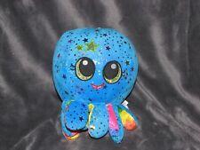 "Fiesta plush Octopus Starshine Blue Stars Shiny Stuffed Animal Soft Toy 9"""