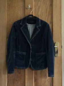 Boden Vintage Velvet Blazer Jacket Size 10