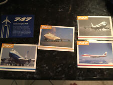 5 UNITED AIRLINES 747 FAREWELL COLLECTORS TRADING CARDS