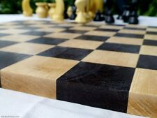 "MODERN CHESSBOARD - 18"" - 2¼"" SQ's - 100% SOLID WENGE & MAPLE WOOD BLOCK (815)"