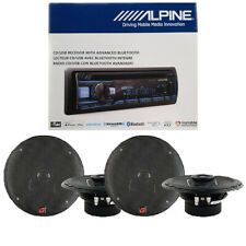 Alpine Bluetooth Car Audio Stereo Receiver / XED62 6.5 inch Car Speakers
