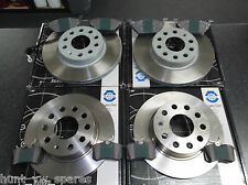 JURATEK QUALITY FRONT & REAR BRAKE DISCS & PADS 280MM / 255MM VW SEAT SKODA AUDI