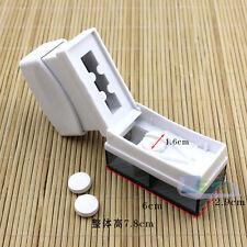 Pill Caplets Medicine Dose Tablet Splitter Cutter 1/2 1/4 Divide Storage Box