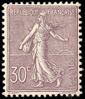 France #142 Sower 30 centimes lilac. Superb with outstanding centering! Beauty