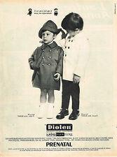 PUBLICITE ADVERTISING 045  1965  PRENATAL  vetements de pluie bébé