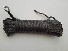 "Grey 1/4""*100ft Synthetic Winch Rope,ATV Winch Line,Offroad Rope with Sheath"