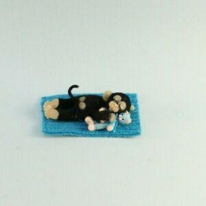 OOAK~Monkey~Teddy Bear~Mini~Clay~Artist Doll~Baby Toy~Dollhouse~Cheryl Brown