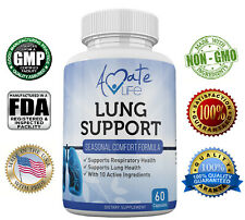 Lung Support Dietary Supplements Herbal Breathing Support 10 Active Ingredients