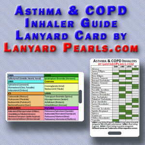 COPD and Asthma Inhaler Guide - PVC Lanyard Badge Card