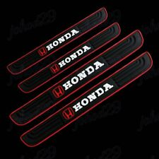Black Rubber Car Door Scuff Sill Cover Panel Step Protector For Honda X4 New