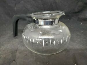 Vtg Bunn 6 Cup Replacement Glass Coffee Pot Carafe Decanter Lid/Handle (g5)
