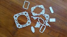 Bag of metal scrap booking frames silver embellishments BNWOT free post E24