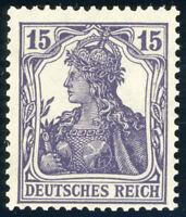 DR 1917, MiNr. 101 c, tadellos postfrisch, gepr. Dr. Oechsner, Mi. 250,-