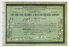 The Lake Erie, Alliance & Wheeling Railroad Co. - James Rudolph Garfield