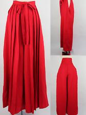 Japanese Woman's Kimono Hakama Umanori Pants Type L:100cm Red