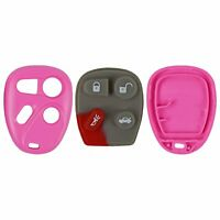 New Keyless Remote Case and Button Pad Pink Fits Chevy Buick GM FCC KOBLEAR1XT