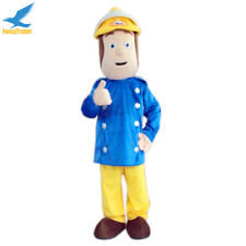 Fireman Sam Mascot Costume EPE Head Party game fancy dress Adults Halloween hot