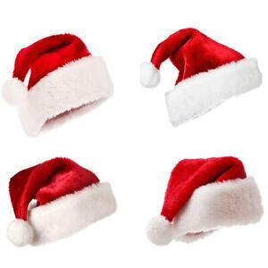 New Year Thick Plush Christmas Hat Kids Decor Home Santa Claus Gift Warm Winter