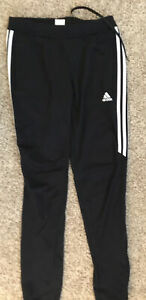 Adidas Climacool 3 Stripes Black Polyester Athletic Pants Women's Size M